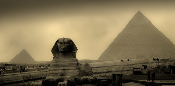 Sphinx  and Great Pyramids